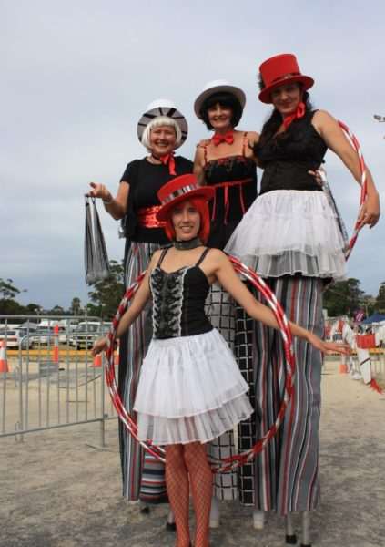 Add some Wow to your event with our general circus costuming. Roving on- ground and stiltwalking performers available with object manipulation skills -hoop, poi, juggle.