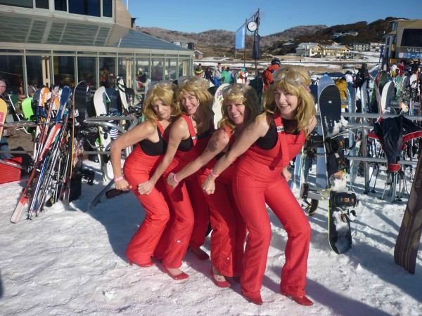 Here's trouble! This act is all about the apre ski. Combining comedy and acrobatic skills this performance is a wild ride! Four person 3-4 minute act. So much fun!
